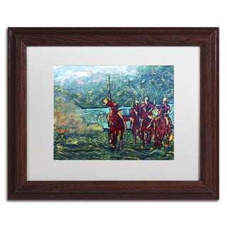 Lowell S.V. Devin 'Polo School Episode I' White Matte, Wood Framed Wall Art