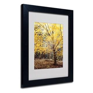 Philippe Sainte-Laudy 'Yellow Fall' White Matte, Black Framed Wall Art