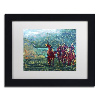 Lowell S.V. Devin 'Polo School Episode I' White Matte, Black Framed Wall Art