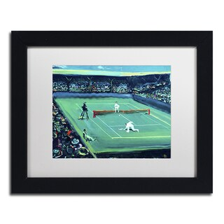 Lowell S.V. Devin 'Grand Slam' White Matte, Black Framed Wall Art