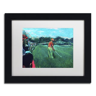 Lowell S.V. Devin 'God's Game' White Matte, Black Framed Wall Art