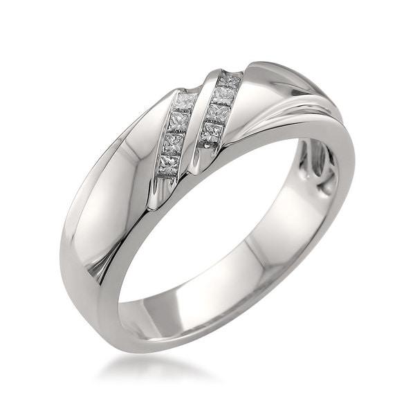 Montebello Platinum Men X27 S 1 4ct Tdw Diamond Wedding Band