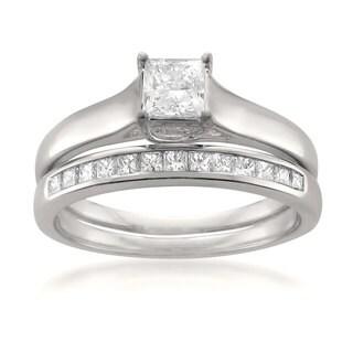 Montebello 14KT White Gold 3/4ct TDW Diamond 2-piece Bridal Set