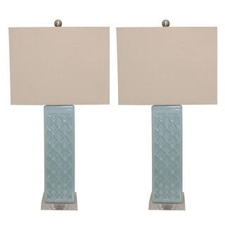 Rectangular Blue Trellis Ceramic Table Lamps (Set of 2)|https://ak1.ostkcdn.com/images/products/10477576/P17566842.jpg?impolicy=medium