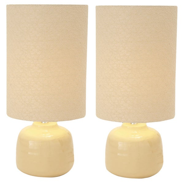 Shop Sophia Ivory Ceramic Table Lamps Set Of 2 Free Shipping