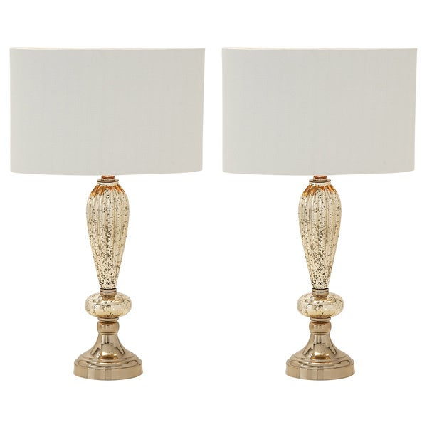 Carmel Collection Oval Glass Table Lamps (Set of 2)
