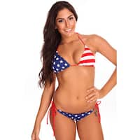 Women's USA Flag Triangle Bikini Bra