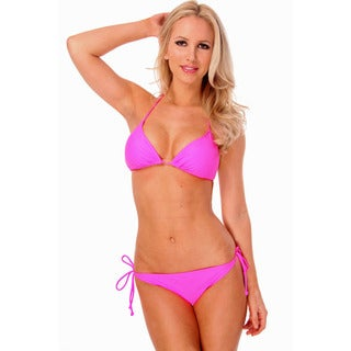 Women's Hot Pink Triangle Bikini Bra