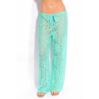 Women's Mint Lace Coverup Pants