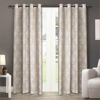 ATI Home Sira Cotton Grommet Top Curtain Panel Pair