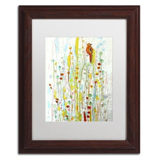 Sylvie Demers 'Pause' White Matte, Wood Framed Wall Art