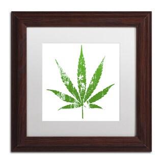 Potman 'One Leaf' White Matte, Wood Framed Wall Art