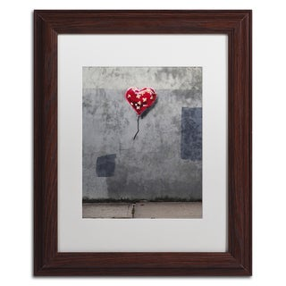 Banksy 'NYC Love' White Matte, Wood Framed Wall Art