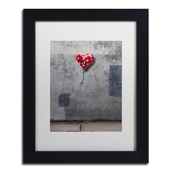 Shop Banksy \'NYC Love\' White Matte, Black Framed Wall Art - On Sale ...