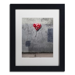 Banksy 'NYC Love' White Matte, Black Framed Wall Art