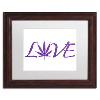 Potman 'Love' White Matte, Wood Framed Wall Art