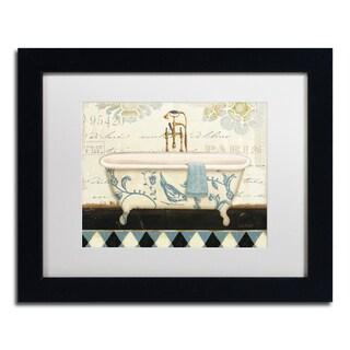 Lisa Audit 'Marche de Fleurs Bath II' White Matte, Black Framed Wall Art