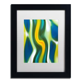 Amy Vangsgard 'Fury Stream 4' White Matte, Black Framed Wall Art
