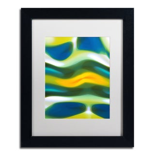 Amy Vangsgard 'Fury Stream 3' White Matte, Black Framed Wall Art