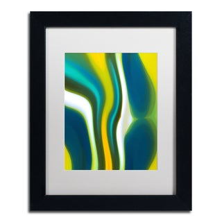 Amy Vangsgard 'Fury Stream 2' White Matte, Black Framed Wall Art