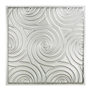 Fasade Typhoon Brushed Aluminum 2' x 2' Lay-in Ceiling Tile