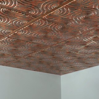 Fasade Typhoon Copper Fantasy 2' x 2' Lay-in Ceiling Tile