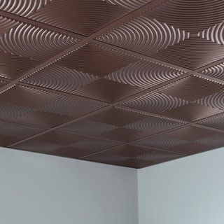Fasade Echo Argent Bronze 2' x 2' Lay-in Ceiling Tile