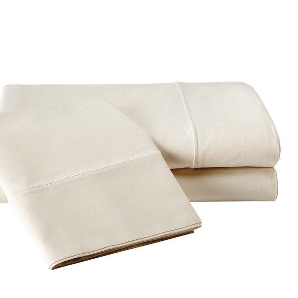 Vivendi 800 Thread Count Egyptian Cotton Sheet Set Ivory, White