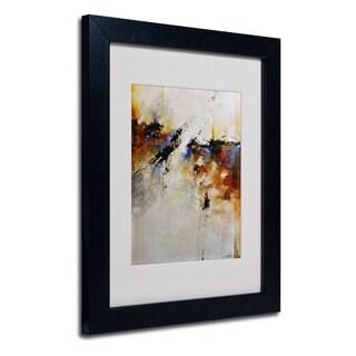 CH Studios 'Fallen Light' White Matte, Black Framed Wall Art