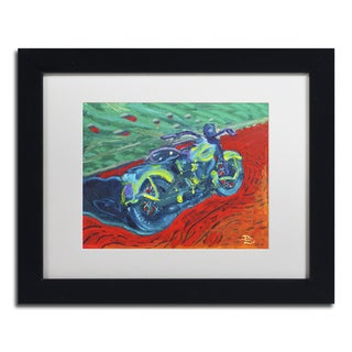 Lowell S.V. Devin 'Expressionist Bike' White Matte, Black Framed Wall Art