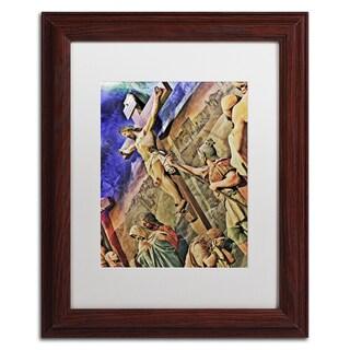 Gregory O'Hanlon 'Altar of Calvary' White Matte, Wood Framed Wall Art