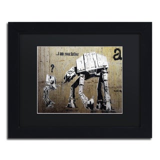 Banksy 'Your Father' Black Matte, Black Framed Wall Art (2 options available)