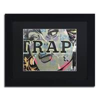 Dan Monteavaro 'Trap' Black Matte, Black Framed Wall Art