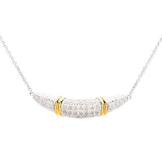 Sterling Silver and 18k Yellow Gold 1/4ct TDW Diamond Necklace (J-K, I2-I3)