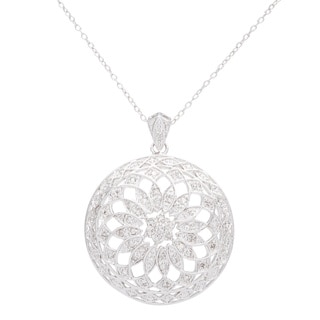 Sterling Silver 1/2ct Diamond Medallion Pendant