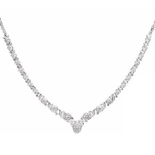 Sterling Silver 1/2ct TDW Diamond Necklace