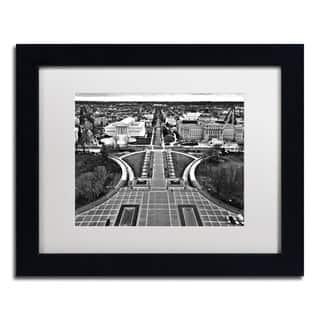 CATeyes 'Washington, DC' White Matte, Black Framed Wall Art