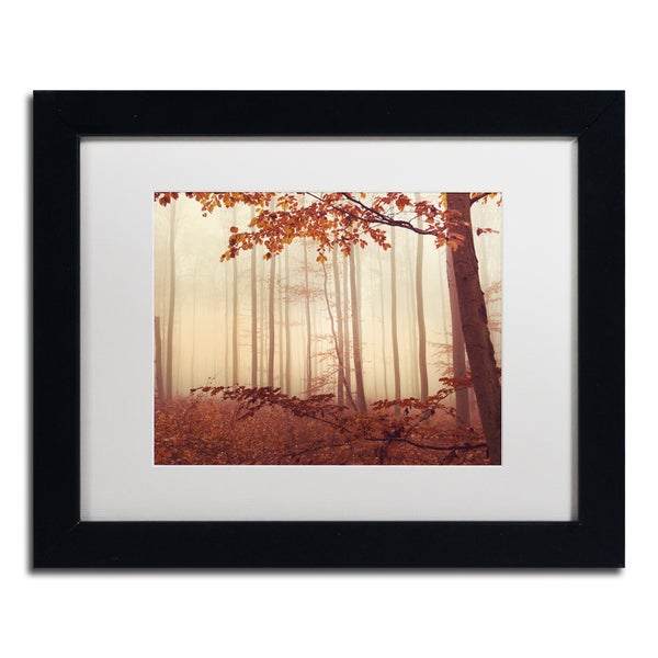 Philippe Sainte-Laudy 'The Last of Fall' White Matte, Black Framed Wall Art