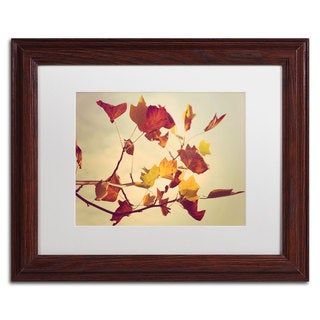 Philippe Sainte-Laudy 'Still Fall' White Matte, Wood Framed Wall Art