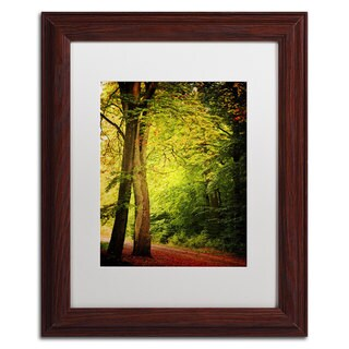 Philippe Sainte-Laudy 'Morning Queen' White Matte, Wood Framed Wall Art