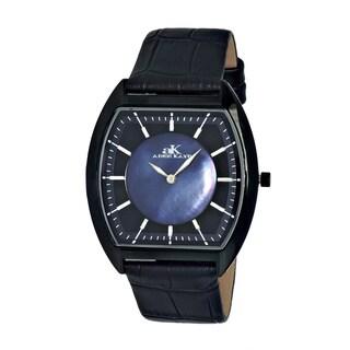 Adee Kaye Men's AK2200-MIPBBK Slim Collection Black Dial Watch