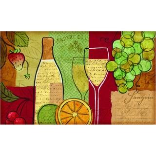 Indoor Sangria Wine/Fruit Kitchen Mat - 1'6 x 2'6