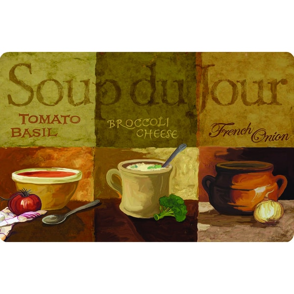 Indoor Soup Du Jour Kitchen Mat 18x30 Free Shipping On