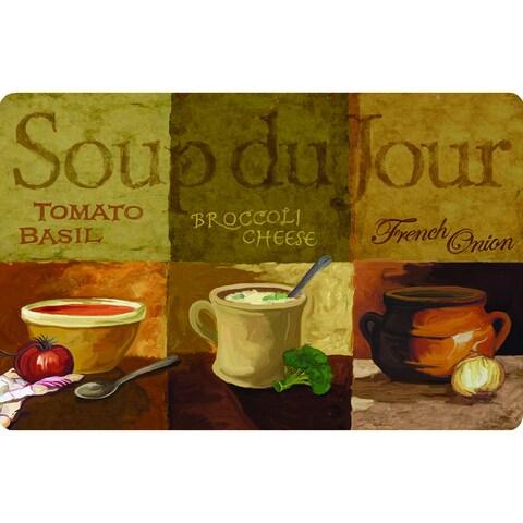 Indoor Soup Du Jour Kitchen Mat - Multi - 1'6 x 2'6