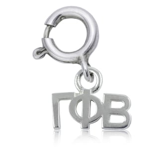 Gamma Phi Beta Sterling Silver Charm
