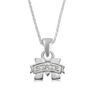 Mississippi State Sterling Silver Charm Necklace