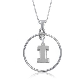 Illinois Sterling Silver Open Drop Necklace
