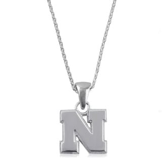 Nebraska Sterling Silver Charm Necklace