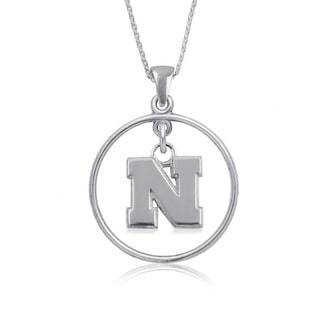 Nebraska Sterling Silver Open Drop Necklace