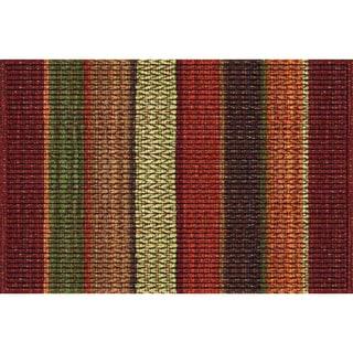 Indoor Chindi Orange Doormat (18x30)